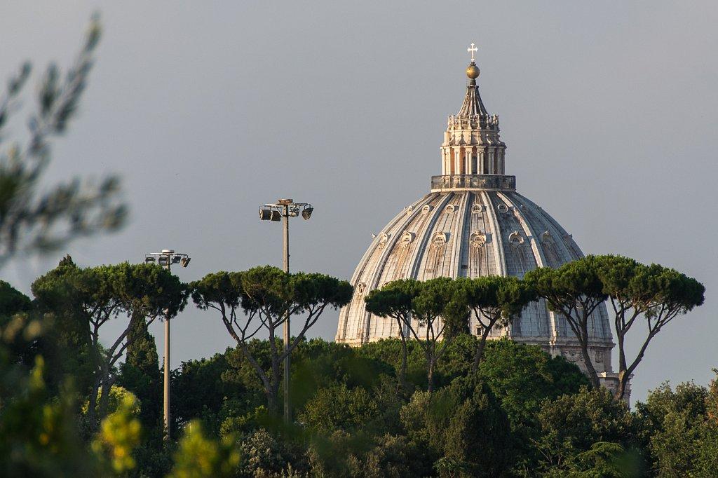 Die Kuppel der Kirche San Pietro