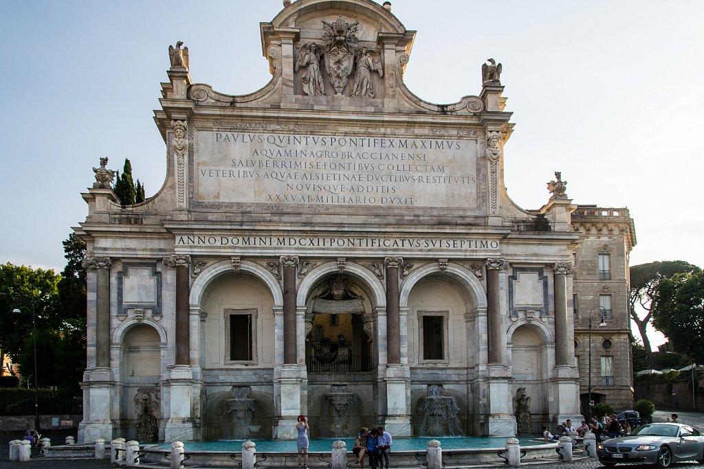 Fontana Paola auf dem Hügel Janiculum