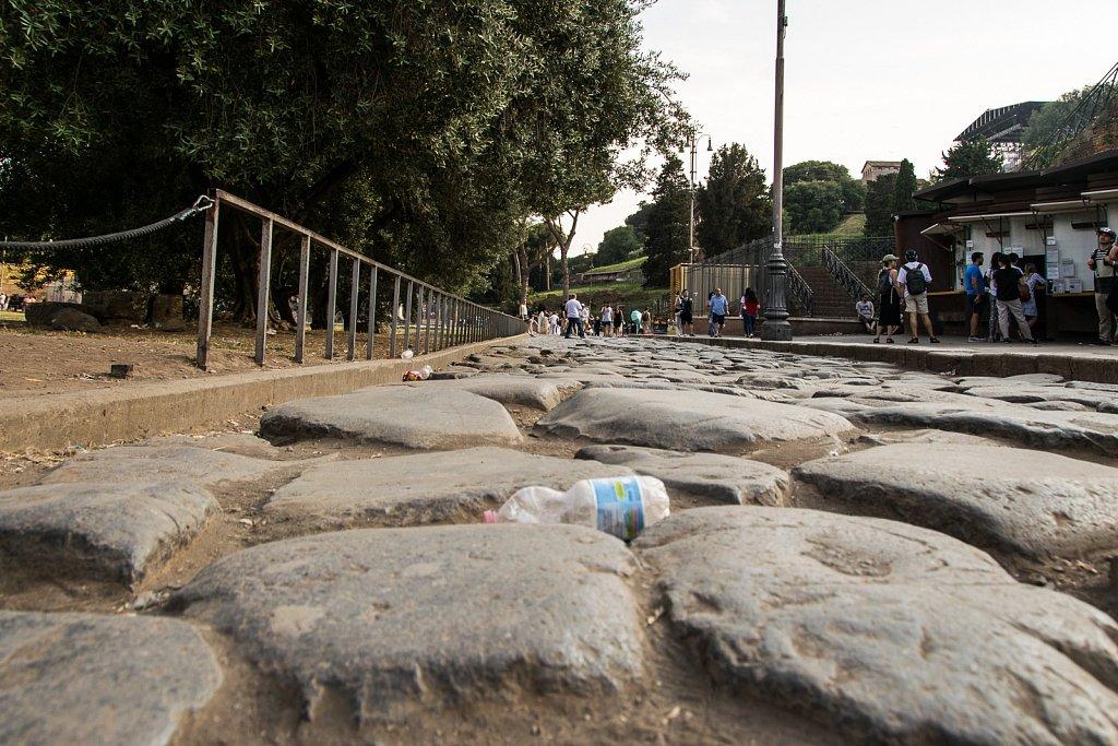 Roms Straßen waren nicht für Fahrräder gemacht