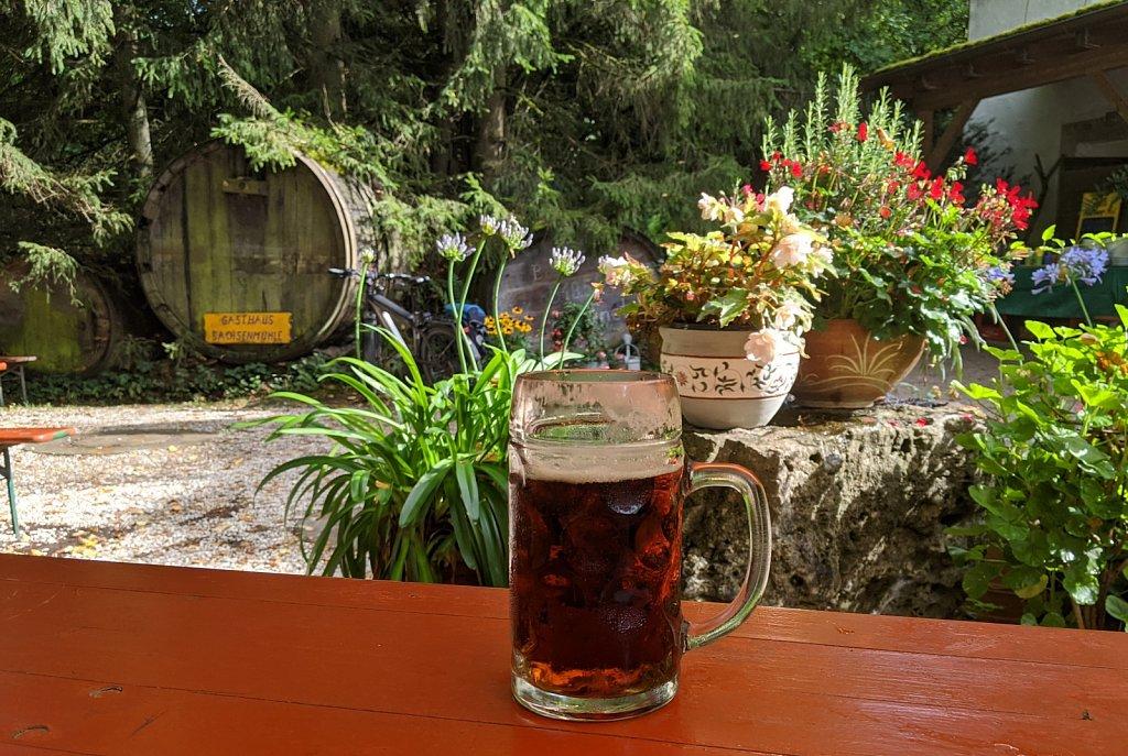 Das Dunkle der Brauerei Ott aus Oberleinleiter in der Sachsenmühle
