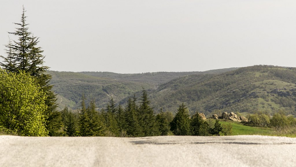 Die Hügel des Strandsha-Gebirges